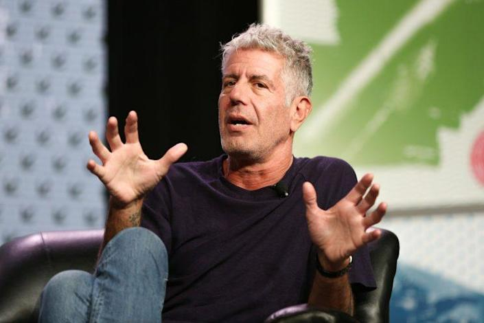 Anthony Bourdain speaks during South By Southwest at the Austin Convention Center on Sunday, March 13, 2016, in Austin, Texas. (Photo: Rich Fury/Invision/AP)