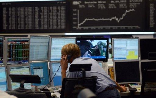 European stocks drop as Frankfurt says bye to 2012