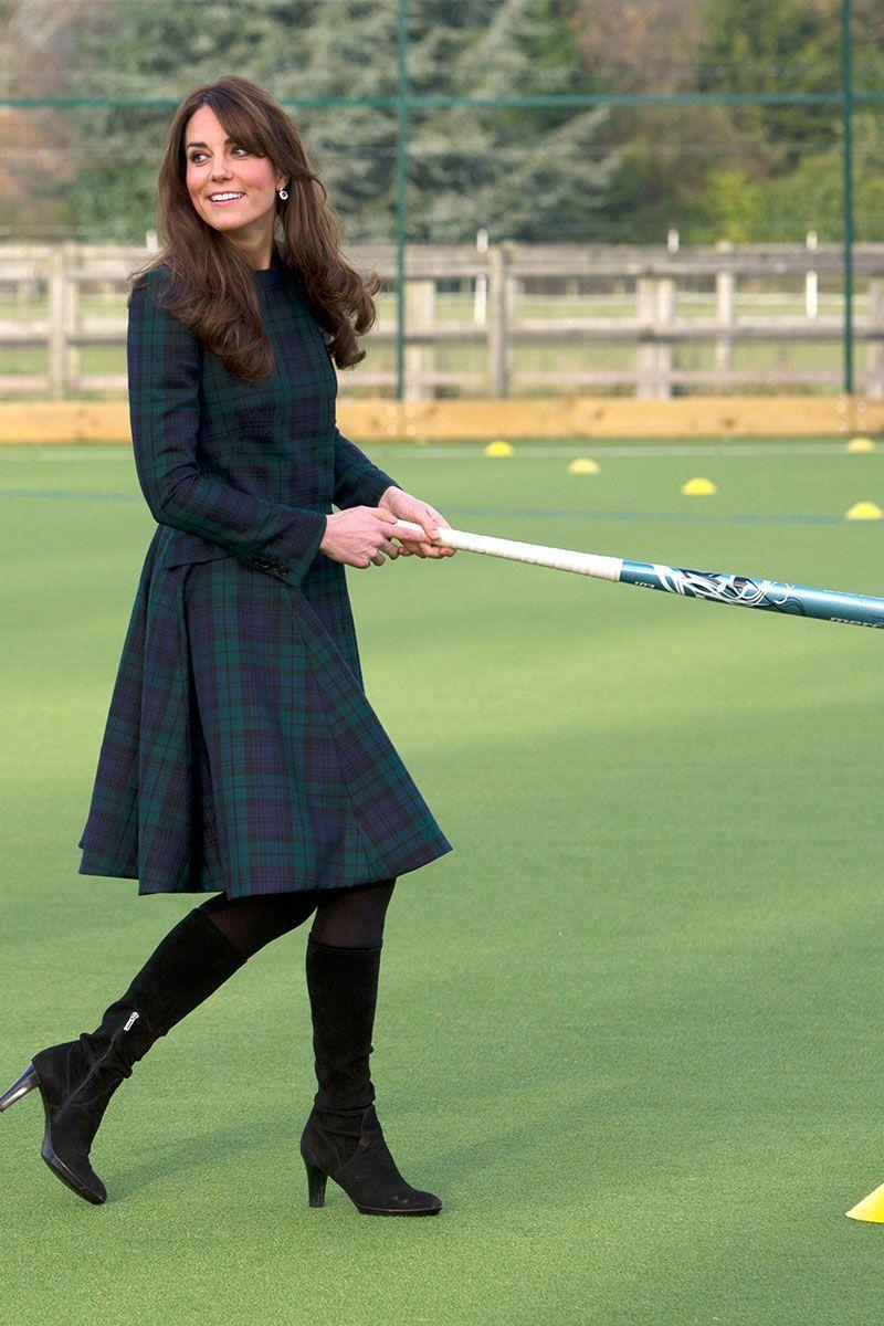 <p>The first time she wore the coat, Kate visited the town of her old university, St Andrew's, to mark St Andrew's day. She even had a game of hockey while she was there. </p>