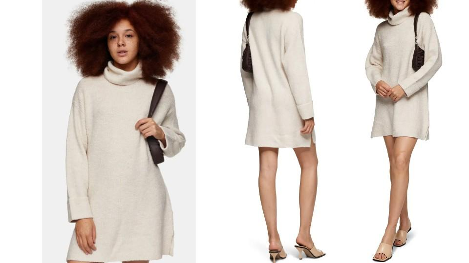 Topshop Funnel Neck Sweater Dress - Nordstrom, $40 (originally $75)