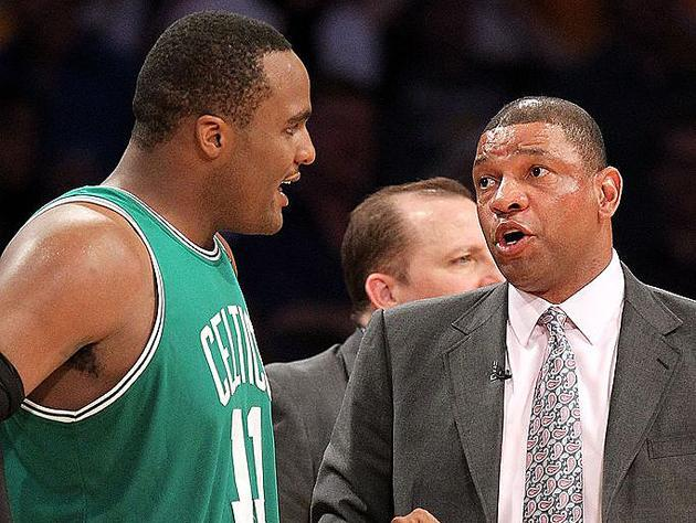 Glen Davis and Doc Rivers, in 2010. (Getty Images)