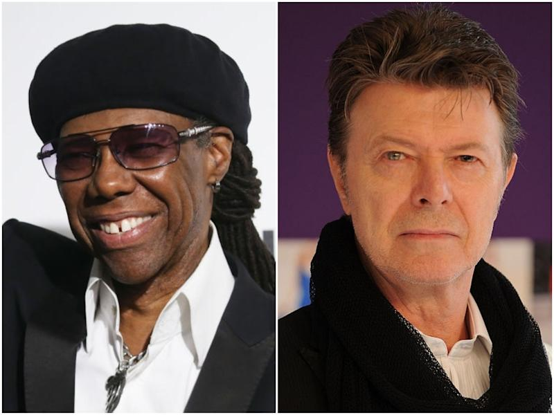 Musician Nile Rodgers and the late David Bowie: Michael Tran/Andrew H Walker/Getty Images