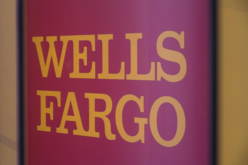 The Wells Fargo logo is seen inside a branch in Washington, DC, on July 9, 2019. (Photo by Alastair Pike / AFP) (Photo credit should read ALASTAIR PIKE/AFP/Getty Images)