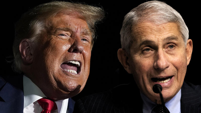 President Donald Trump and Dr. Anthony Fauci. (Photo illustration: Yahoo News; photos: Evan Vucci/AP, AP)