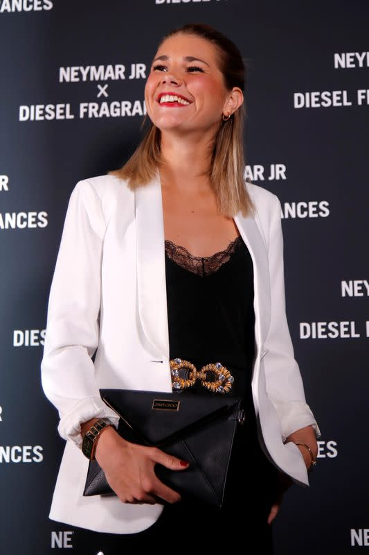 FILE PHOTO: Olympique Lyonnais' Hegerberg attends the launch of Neymar's new Diesel perfume in Paris