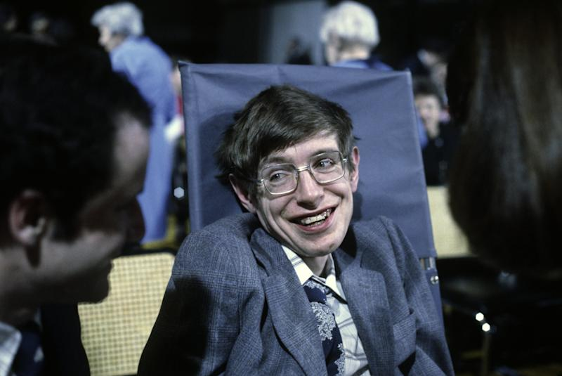 Cosmologist Stephen Hawking on Oct. 10, 1979 in Princeton, New Jersey.
