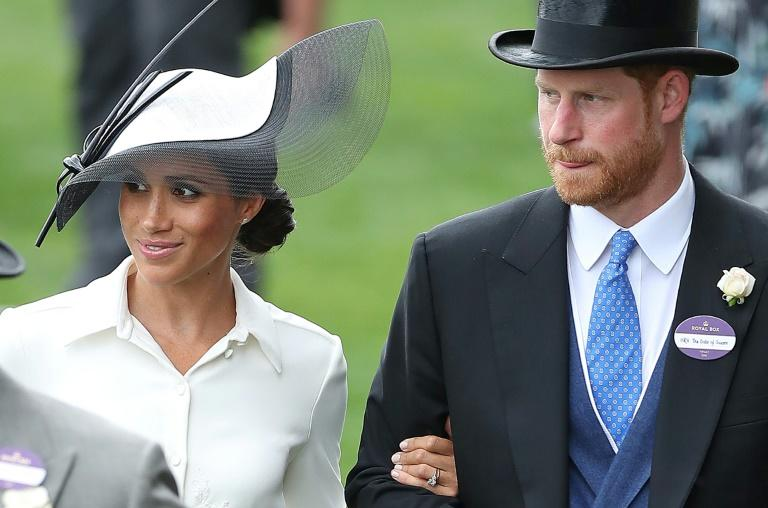 Prince Harry attends Royal Ascot and his wife Britain's Meghan, their first appearance together at what is one of the highlights of the horse racing calendar