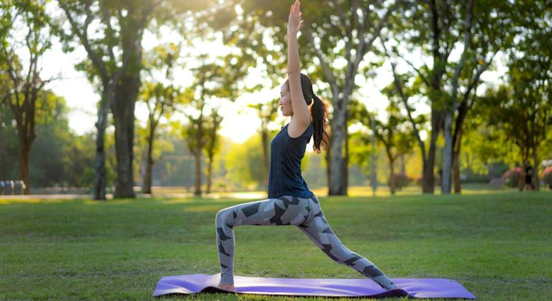 This yoga mat is ideal for workout outside. (Getty Images)