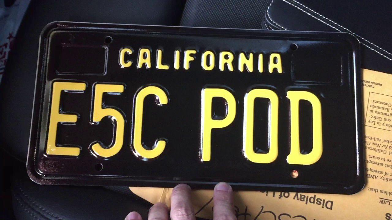<p>If you're not a fan of California's standard white plates, the state's DMV also offers black plates with yellow lettering. It's a throwback to California's standard plate of the 1960s, featuring period lettering and no other design cues. </p>