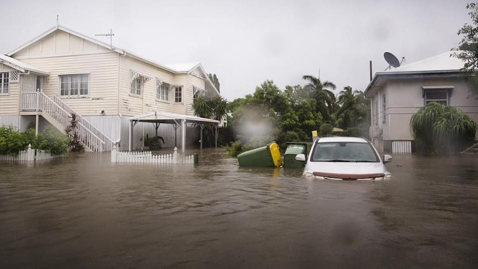 Townsville and swathes of far north Queensland are being battered with more rain and swollen rivers. Source; AAP