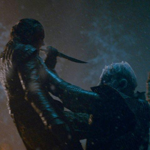 Arya killing the Night King - a scene first leaked via Freefolk