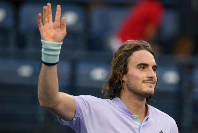 Tsitsipas is starting to find form after winning the Marseille title last week (AFP Photo/KARIM SAHIB)