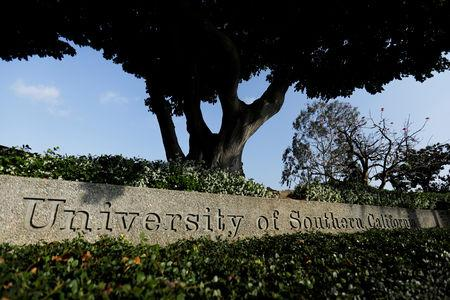 FILE PHOTO:    The University of Southern California is pictured in Los Angeles, California, U.S., May 22, 2018.  REUTERS/Mike Blake/File Photo