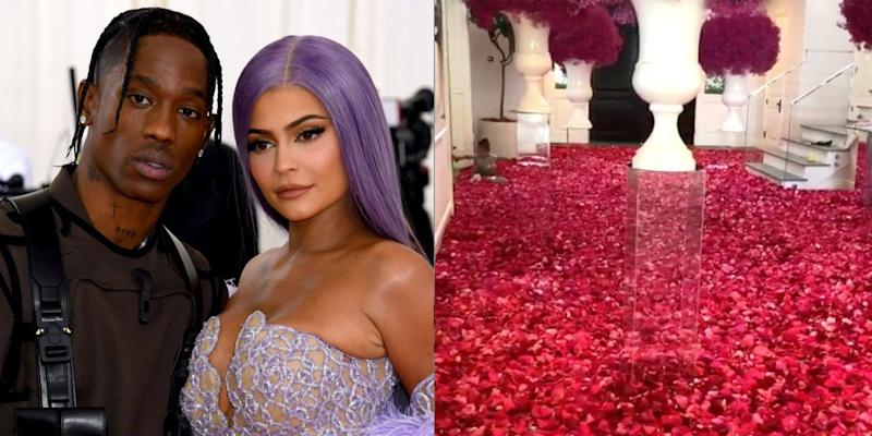 Is that a wedding dress in Kylie Jenner's hand?