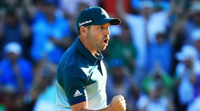 In what turned into a 1-on-1 match to close out the Masters, a major turning point late in the round was Sergio Garcia's eagle on the 15th hole.