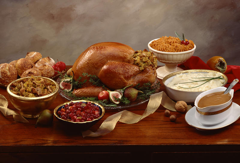 Here's what happens when you get carried away eating Thanksgiving dinner. (Photo: Getty Images)