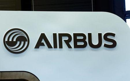 An Airbus logo is pictured on the company booth during the European Business Aviation Convention & Exhibition (EBACE) at Cointrin airport in Geneva, Switzerland, May 24, 2016.  REUTERS/Denis Balibouse