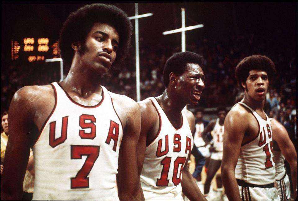 <p>With 3 seconds left on the clock and the Soviets leading by one point, the U.S. scraped up two foul shots to pull ahead 50-48. The buzzer sounded, and the U.S. team celebrated wildly, only to be told the Soviets had called a time-out. Three seconds were added back on, and the Soviets scored, winning the game. </p>