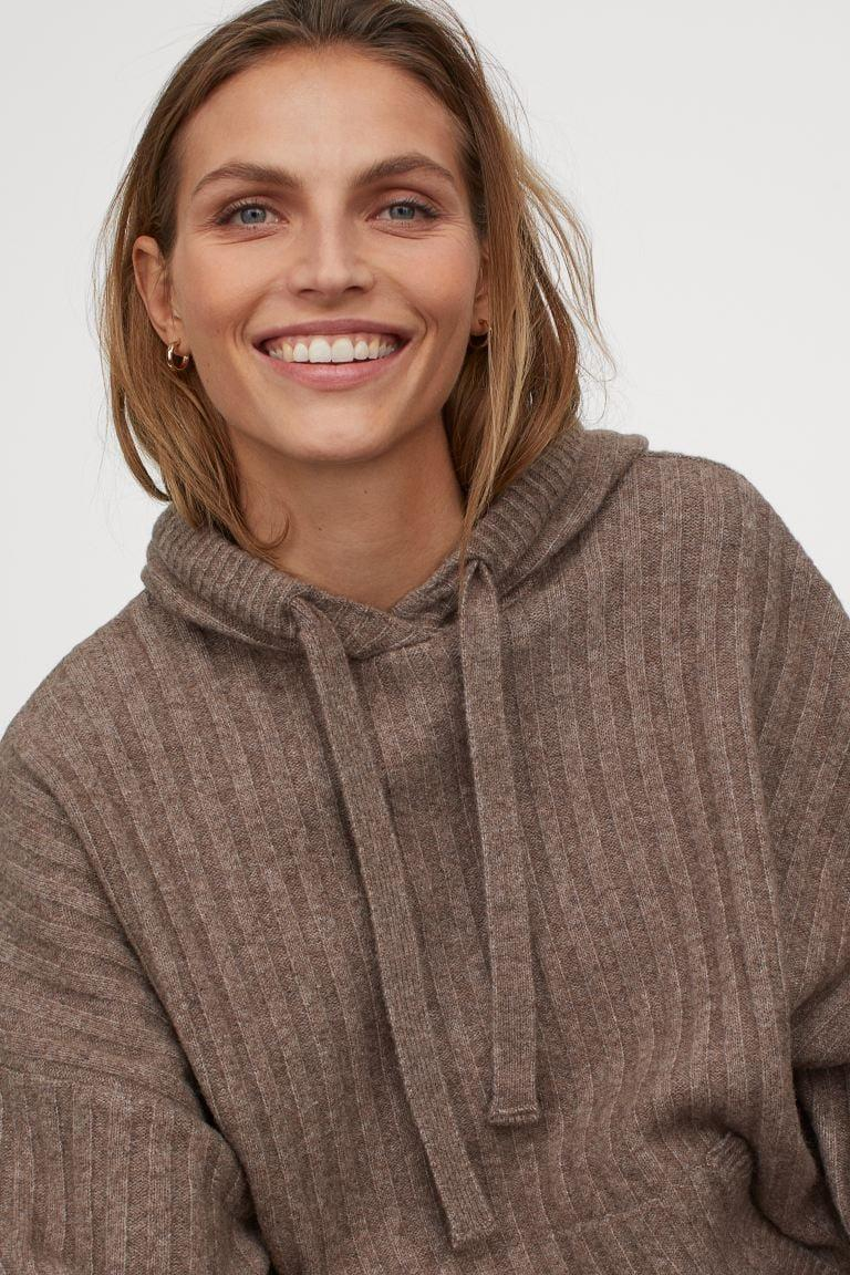 <p>I bet the feel of this <span>Rib-Knit Wool-Blend Hoodie</span> ($50) is amazing.</p>