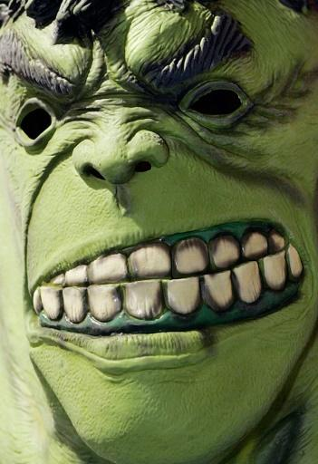 The Marvel Comics character Hulk is the destructive alter ego of scientist Bruce Banner who turns into the ferocious green giant when enraged or stressed