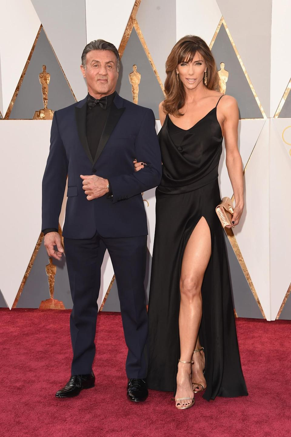 <p>Blue is your color, Mr. Stallone. <i><i>(Photo: Getty Images)</i></i></p>