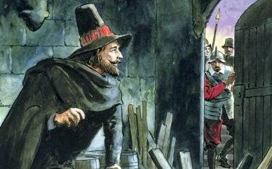 Guy Fawkes in the painting 'Peeps into the Past', published around 1900 - Getty Images Fee