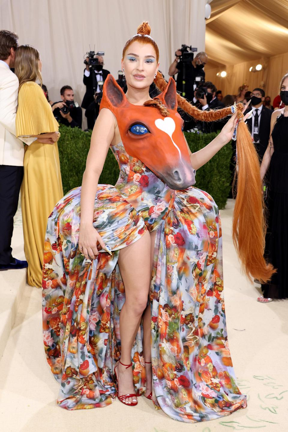 """<h1 class=""""title"""">Kim Petras, The 2021 Met Gala Celebrating In America: A Lexicon Of Fashion - Arrivals</h1><cite class=""""credit"""">Getty</cite>"""