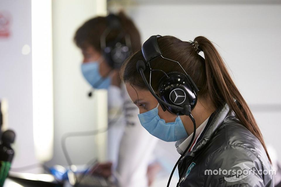 "Mercedes F1 AMG team members<span class=""copyright"">Daimler AG</span>"