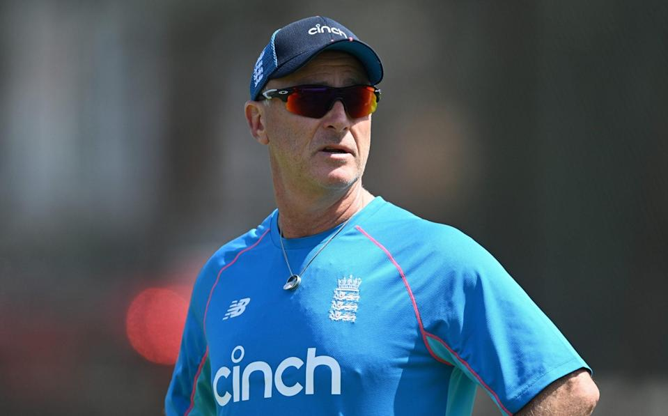 England batting coach Graham Thorpe during a nets session at Edgbaston on June 08, 2021 in Birmingham - Graham Thorpe: 'The Hundred will help England's Test batsmen forget New Zealand' - GETTY IMAGES