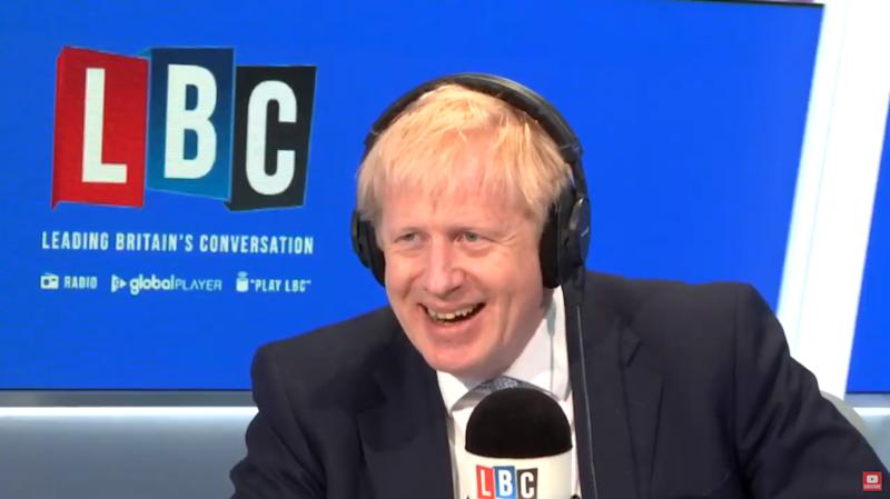 Mr Johnson was interviewed on LBC radio on Tuesday (Picture: PA)