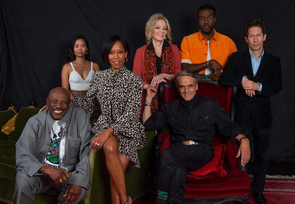 "HBO's highly anticipated ""Watchmen"" series stars (from left) Louis Gossett Jr., Hong Chao, Regina King, Jean Smart, Jeremy Irons, Yahya Abdul-Mateen II and Tim Blake Nelson."