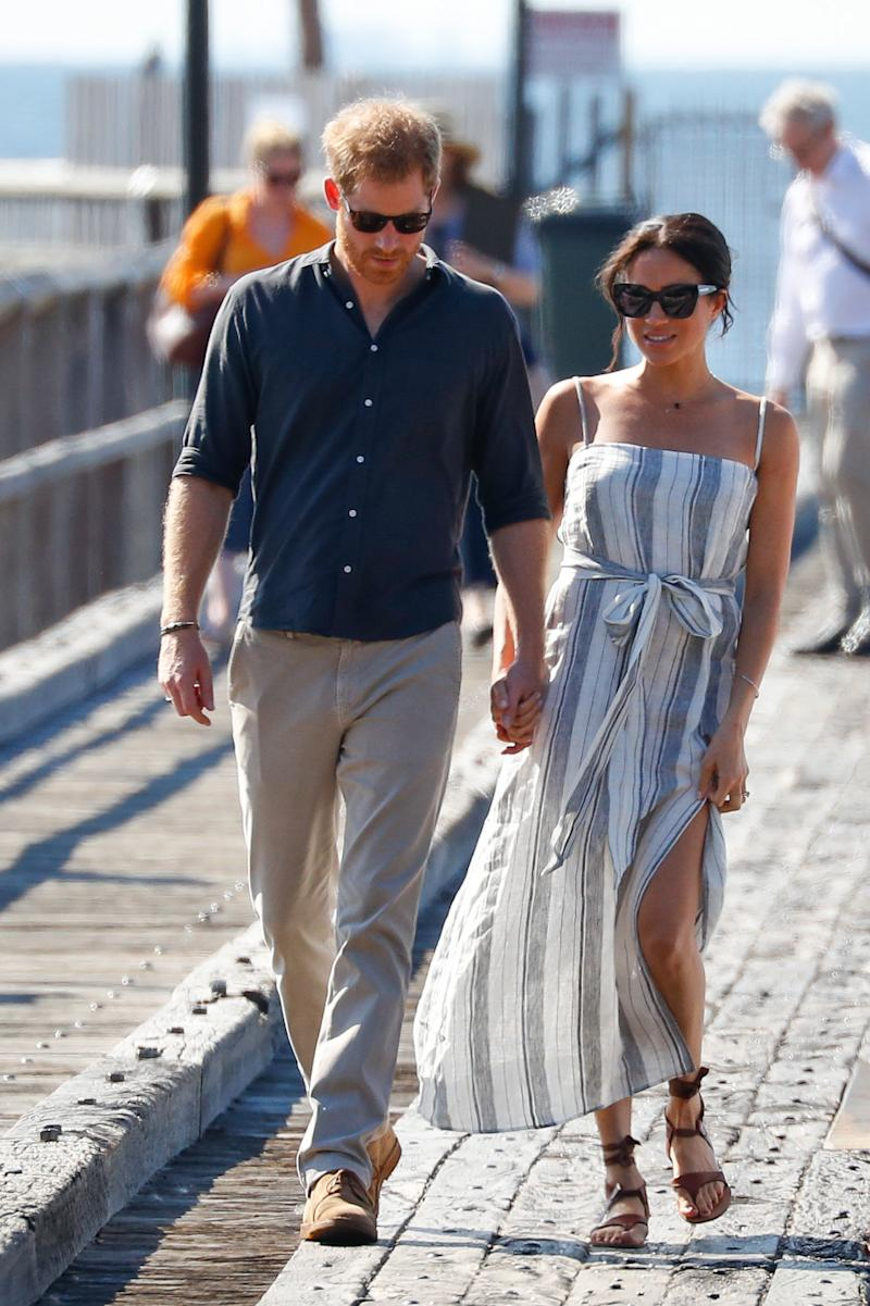 Meghan Markle slipped into a Reformation number during her Australia tour in 2018. (Getty)