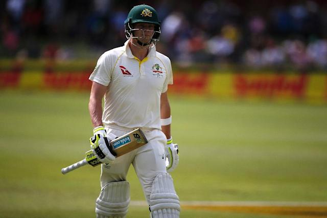 The incident happened after Australian captain Steve Smith was dismissed by Kagiso Rabada (AFP Photo/MARCO LONGARI)