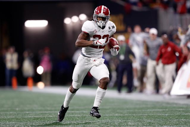 Najee Harris was Alabama's leading rusher Monday night. (Getty)