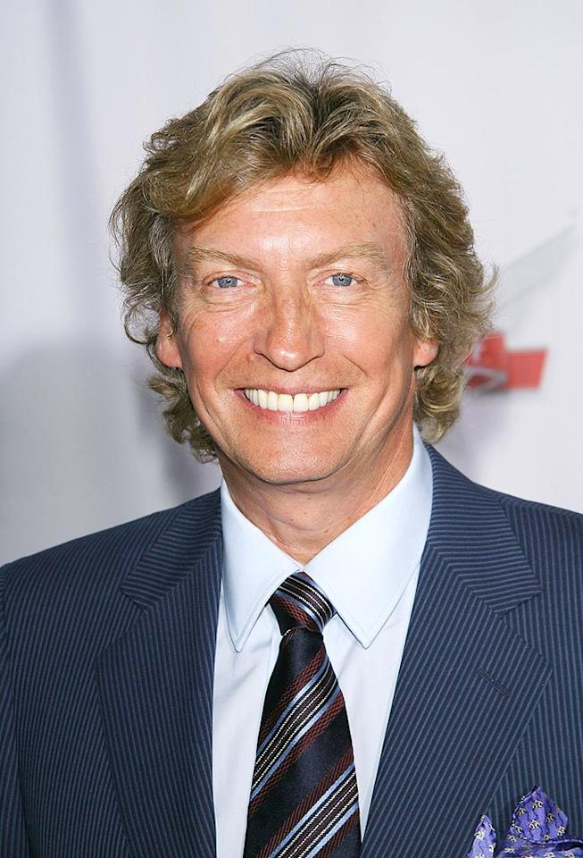 """So You Think You Can Dance"" executive producer Nigel Lythgoe kept it classy in a blue pinstriped suit. Michael Tran/<a href=""http://www.filmmagic.com/"" target=""new"">FilmMagic.com</a> - September 24, 2008"