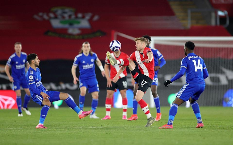Leicester had to be content with with just a point against 10-man Southampton last Friday - GETTY IMAGES