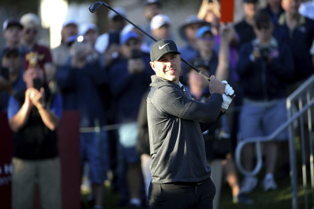 After taking a five-week break that included a stem cell treatment on his knee, Brooks Koepka had an off day in Las Vegas. (Las Vegas Review-Journal)