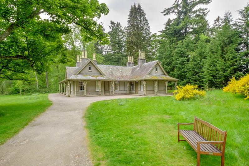The garden cottage is one of the many on the grounds of Balmoral.