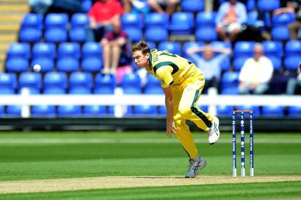 CARDIFF, WALES - JUNE 01: James Faulkner bowls for Australia at the SWALEC Stadium on June 1, 2013 in Cardiff, Wales. (Photo by Matthew Horwood/Getty Images)