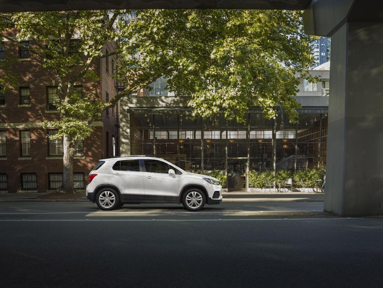 "<p>Despite a cool name, <a href=""https://www.caranddriver.com/chevrolet/trax"" target=""_blank"">the Trax</a> is an unadventurous choice in a segment with more exciting, fun-to-drive choices. (The mechanically similar Buick Encore, for example, is a more distinguished offering.) The Chevy offers a roomy cabin and is powered by a 138-hp 1.4-liter turbo four with a six-speed automatic; take your pick of either front- or all-wheel drive. Steering feedback is okay, and the ride is smooth, but the Trax is tuned more for comfort than sport. Inside, there's lots of tech, with 4G LTE, a built-in Wi-Fi hotspot, and a 7.0-inch touchscreen featuring Apple CarPlay and Android Auto compatibility.</p>"