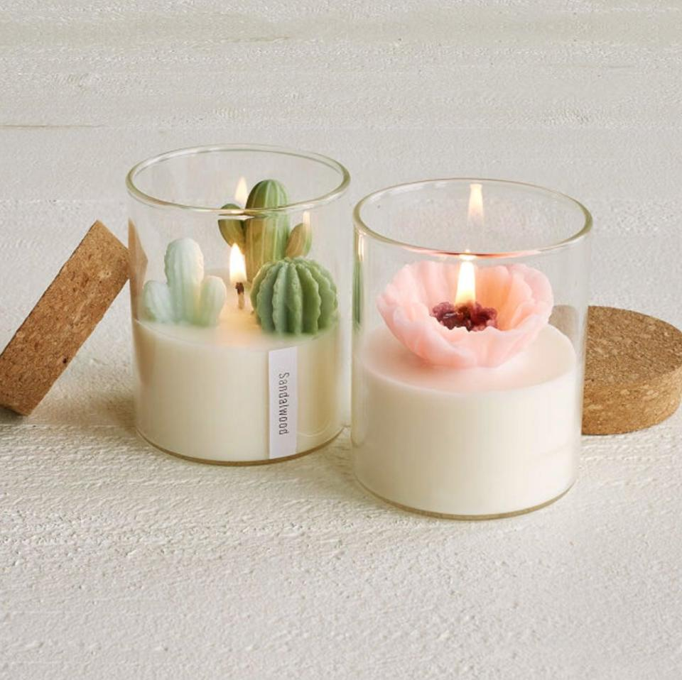 <p>Zoe Tang's gorgeous <span>Terrarium Candles</span> ($25) look like mini gardens. Choose between the cactus terrarium, which is pine and vanilla scented, or the poppy terrarium, which is white tea and jasmine.</p>