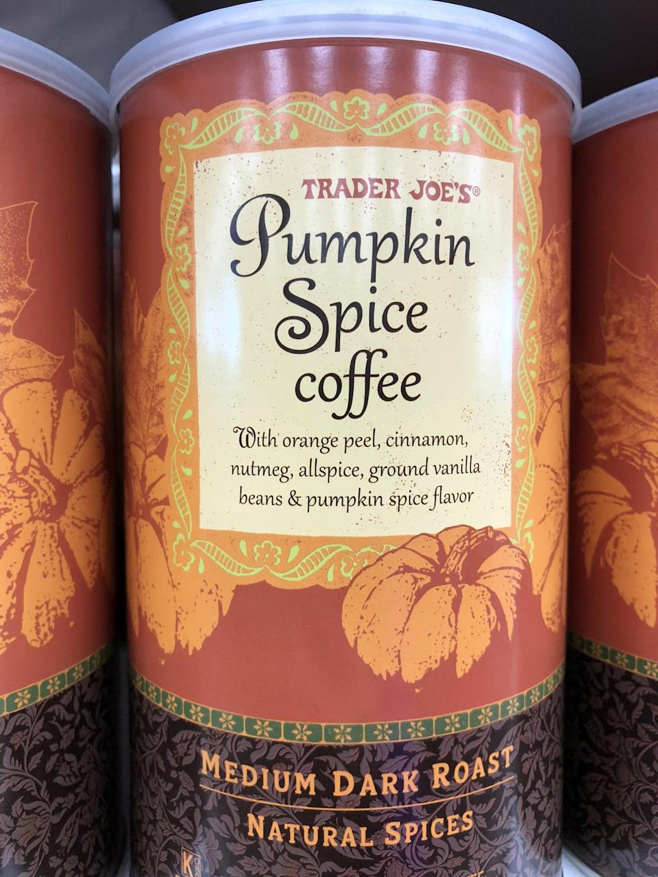 """<p>If you're into pumpkin spice lattes, make a <a href=""""https://www.popsugar.com/fitness/Pumpkin-Spice-Latte-Protein-Smoothie-44075740"""" class=""""link rapid-noclick-resp"""" rel=""""nofollow noopener"""" target=""""_blank"""" data-ylk=""""slk:pumpkin spice latte protein smoothie"""">pumpkin spice latte protein smoothie</a> using this delicious cinnamony spiced coffee.</p>"""