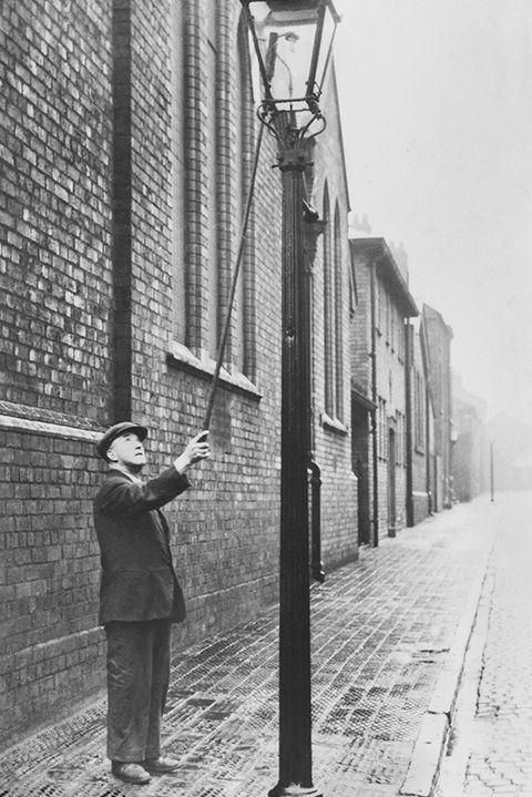 <p>A lamplighter in the late 1800s and early 1900s was precisely that — someone who is employed to light street lamps. Only a small number still exist today as the majority of street lighting is now electric.</p>