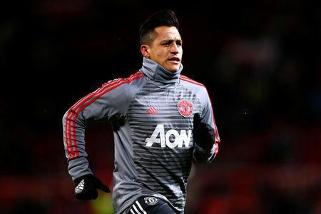 Soccer Football - FA Cup Quarter Final - Manchester United vs Brighton & Hove Albion - Old Trafford, Manchester, Britain - March 17, 2018 Manchester United's Alexis Sanchez during the warm up before the match Action Images via Reuters/Jason Cairnduff