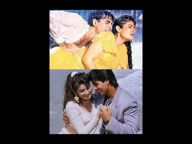 <b>Akshay and Raveena</b><br>She was the ultimate fantasy queen of men in the 90s. Who can forget, the yellow sari girl, dancing in the rain on tip tip barsa paani…Raveena Tandon, one actress whose beauty and sensuality put fire on screen. However, off-screen this beauty was once madly in love with none other than the Khiladi Akshay Kumar. Their love bloomed with the release of their film Mohra in 1994. They even got secretly engaged in a mandir. On the suface level, their love-story looked picture perfect. However, during their courtship phase, Khiladiyon ka Khiladi released and with that, the link-up stories of Akshay and Rekha became the sensational news in the media.