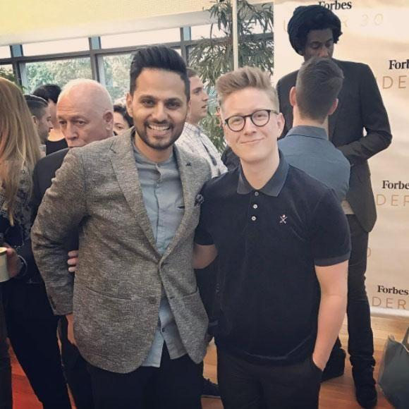 Jay pictured with successful Youtube star Tyler Oakley. Source: Instagram