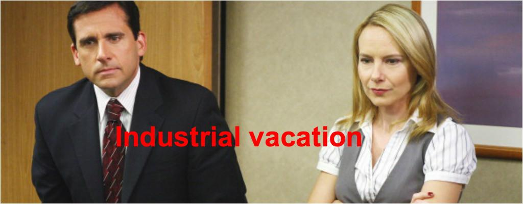 <p>Industrial vacation: A business trip to a desirable location that is loosely related to business. </p>
