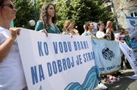 Environmentalists from across the Balkans hold press conference after meeting in Sarajevo