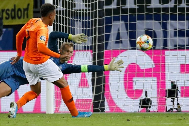 Debutant Donyell Malen scored the Netherlands' third goal in their victory over Germany