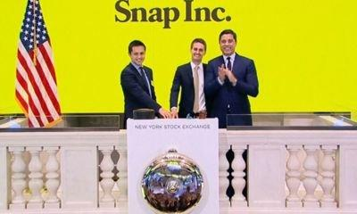 Snapchat owner's stock leaps 44% on US stock market debut